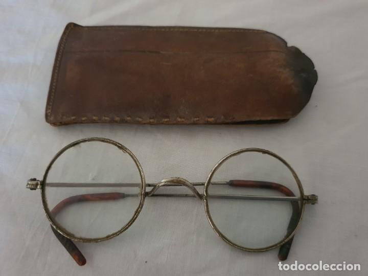 ANTIGUAS GAFAS REDONDAS AÑO 1900 APROX. (Antigüedades - Técnicas - Instrumentos Ópticos - Gafas Antiguas)