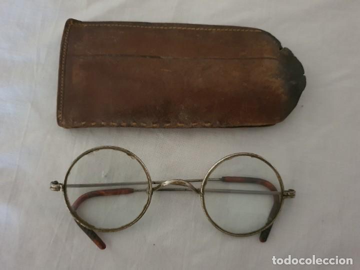 Antigüedades: ANTIGUAS GAFAS REDONDAS AÑO 1900 APROX. - Foto 5 - 217892305