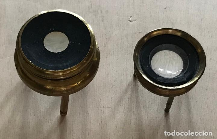 Antigüedades: Dos lupas de mesa alemanas de precisión, hacia 1890 - Foto 2 - 217894843