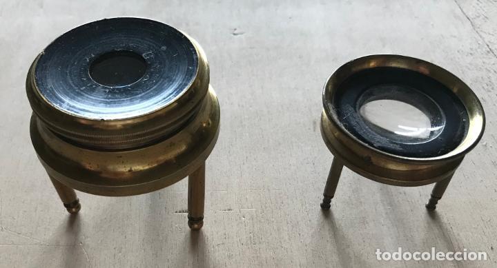 Antigüedades: Dos lupas de mesa alemanas de precisión, hacia 1890 - Foto 7 - 217894843