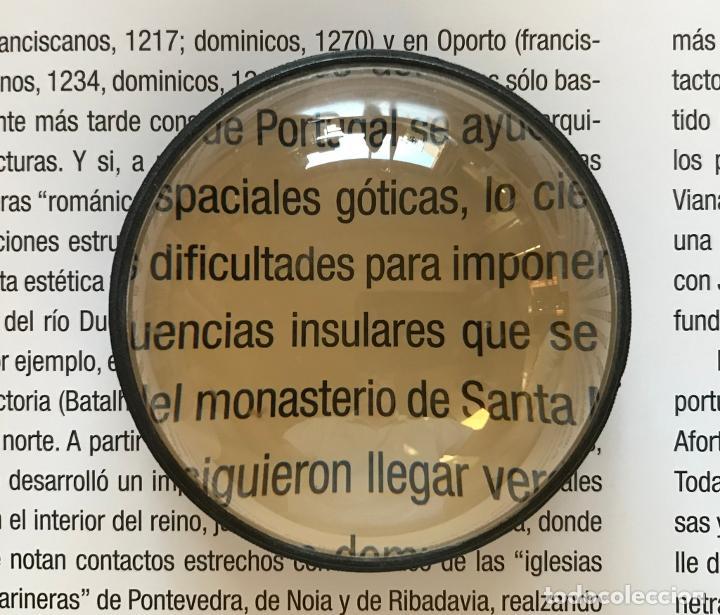 Antigüedades: Lupa alemana circular de lectura de mesa, hacia 1950. Visollet - Foto 2 - 217903521