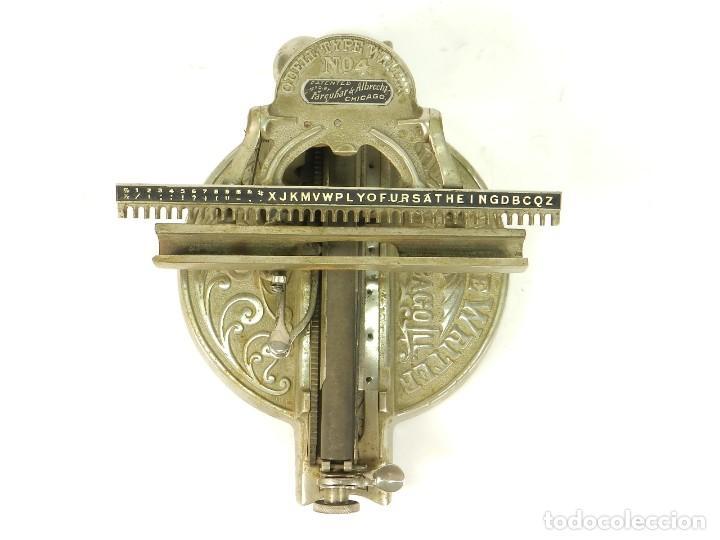 ANTIGUA MAQUINA DE ESCRIBIR ODELL Nº4 AÑO 1890 TYPEWRITER SCHREIBMASCHINE (Antigüedades - Técnicas - Máquinas de Escribir Antiguas - Otras)