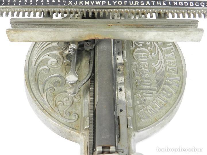 Antigüedades: ANTIGUA MAQUINA DE ESCRIBIR ODELL Nº4 AÑO 1890 TYPEWRITER SCHREIBMASCHINE - Foto 4 - 217920200