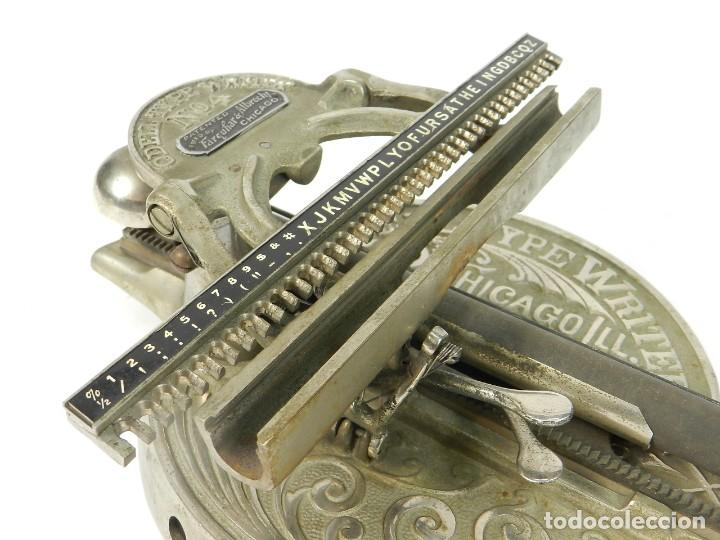 Antigüedades: ANTIGUA MAQUINA DE ESCRIBIR ODELL Nº4 AÑO 1890 TYPEWRITER SCHREIBMASCHINE - Foto 6 - 217920200