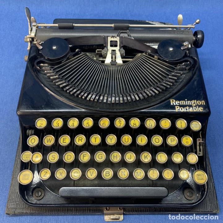 MÁQUINA DE ESCRIBIR REMINGTON PORTABLE - VINTAGE - AÑOS 20 - MADE IN USA - CON SU ESTUCHE ORIGINAL (Antigüedades - Técnicas - Máquinas de Escribir Antiguas - Remington)