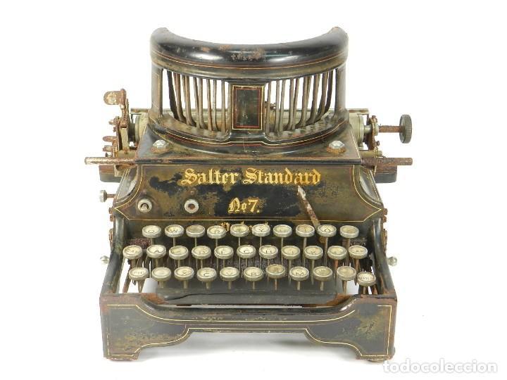 ANTIGUA MAQUINA DE ESCRIBIR SALTER Nº7 AÑO 1907 TYPEWRITER SCHREIBMASCHINE (Antigüedades - Técnicas - Máquinas de Escribir Antiguas - Otras)