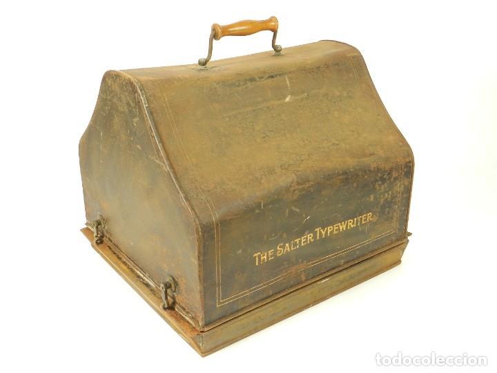 Antigüedades: ANTIGUA MAQUINA DE ESCRIBIR SALTER Nº7 AÑO 1907 TYPEWRITER SCHREIBMASCHINE - Foto 2 - 217925357