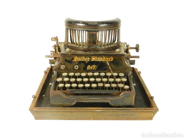 Antigüedades: ANTIGUA MAQUINA DE ESCRIBIR SALTER Nº7 AÑO 1907 TYPEWRITER SCHREIBMASCHINE - Foto 3 - 217925357
