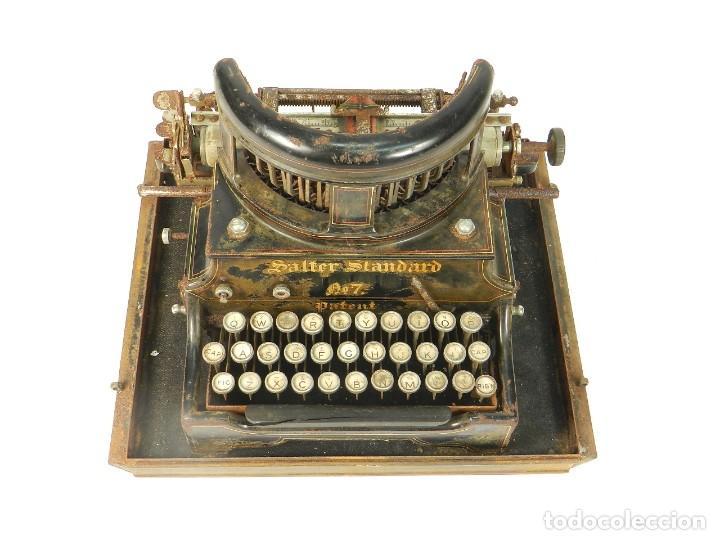 Antigüedades: ANTIGUA MAQUINA DE ESCRIBIR SALTER Nº7 AÑO 1907 TYPEWRITER SCHREIBMASCHINE - Foto 4 - 217925357