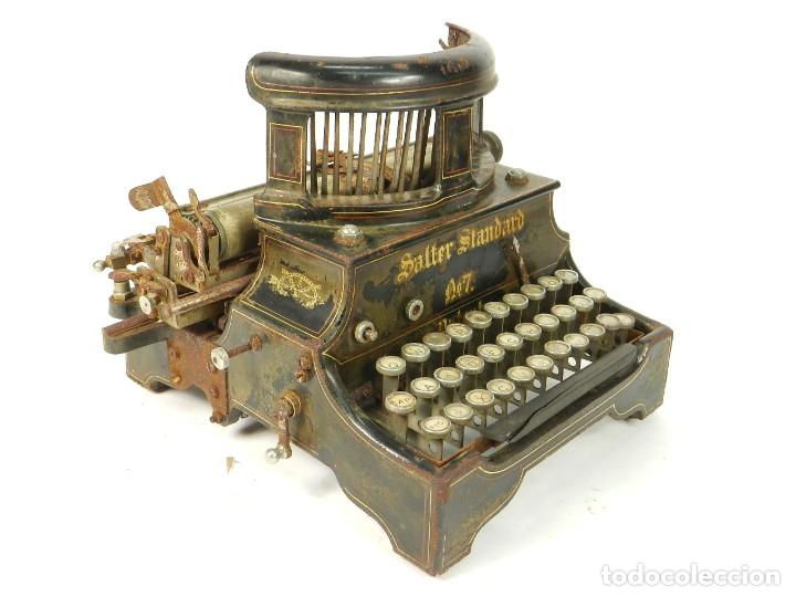 Antigüedades: ANTIGUA MAQUINA DE ESCRIBIR SALTER Nº7 AÑO 1907 TYPEWRITER SCHREIBMASCHINE - Foto 8 - 217925357