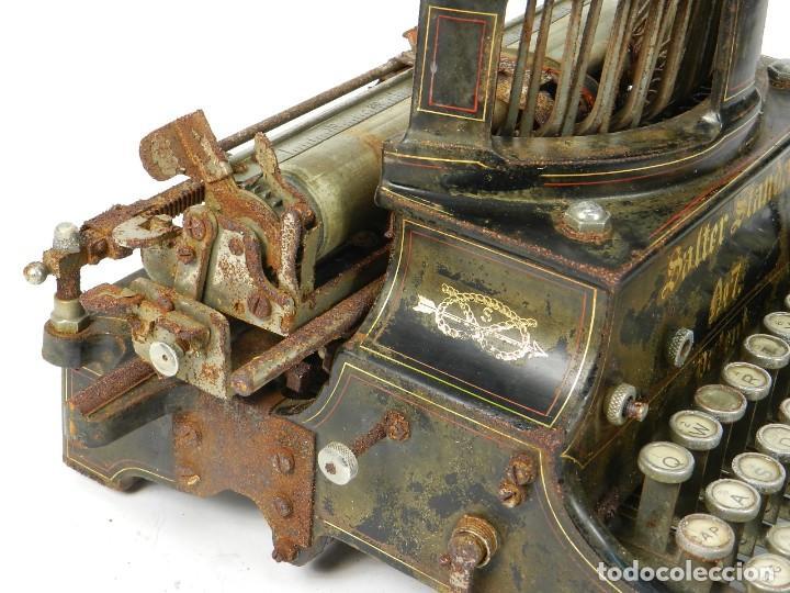 Antigüedades: ANTIGUA MAQUINA DE ESCRIBIR SALTER Nº7 AÑO 1907 TYPEWRITER SCHREIBMASCHINE - Foto 9 - 217925357