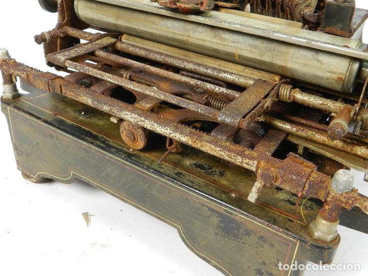 Antigüedades: ANTIGUA MAQUINA DE ESCRIBIR SALTER Nº7 AÑO 1907 TYPEWRITER SCHREIBMASCHINE - Foto 10 - 217925357