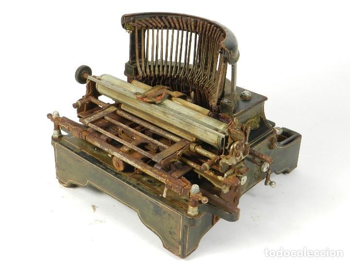 Antigüedades: ANTIGUA MAQUINA DE ESCRIBIR SALTER Nº7 AÑO 1907 TYPEWRITER SCHREIBMASCHINE - Foto 11 - 217925357