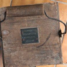 Antigüedades: ANTIGUA CAJA DE MADERA INTERVENTOR DE TELÉGRAFOS ALICANTE. Lote 217940076
