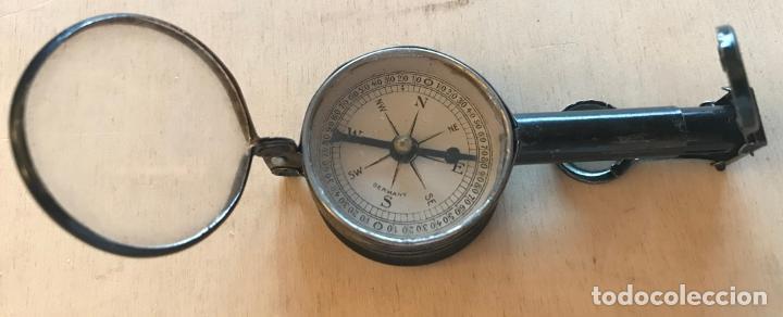 Antigüedades: Objeto múltiple con brújula, lupas, espejo y binaculares de finales del siglo XIX - Foto 8 - 217981827