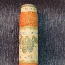 Antigüedades: BOBINA HILO DE COSER DE LA MARCA HILO DE ORO DE 37 METROS. Lote 218005705