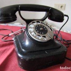 Teléfonos: TELÉFONO DE MESA ALEMÁN ANTIGUO DE METAL Y BAQUELITA MODELO W28 HECHO EN ALEMANIA FINALES AÑOS 20. Lote 218030487