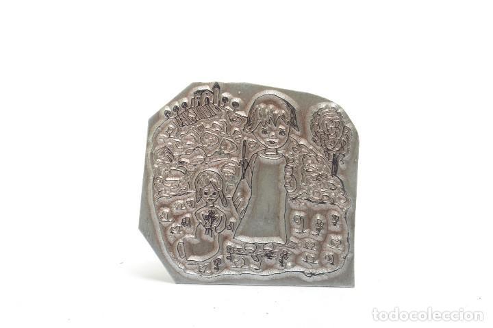 Antigüedades: Molde imprenta metálico, impresión imprenta, arte, ilustración, decoración religiosa - Foto 2 - 218035677