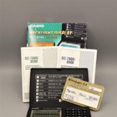 Antigüedades: AGENDA ELECTRÓNICA DIARIO DIGITAL CASIO DC-7800 VINTAGE, ANTIGUA. DÉCADA DE AÑO 1998. Lote 218052435
