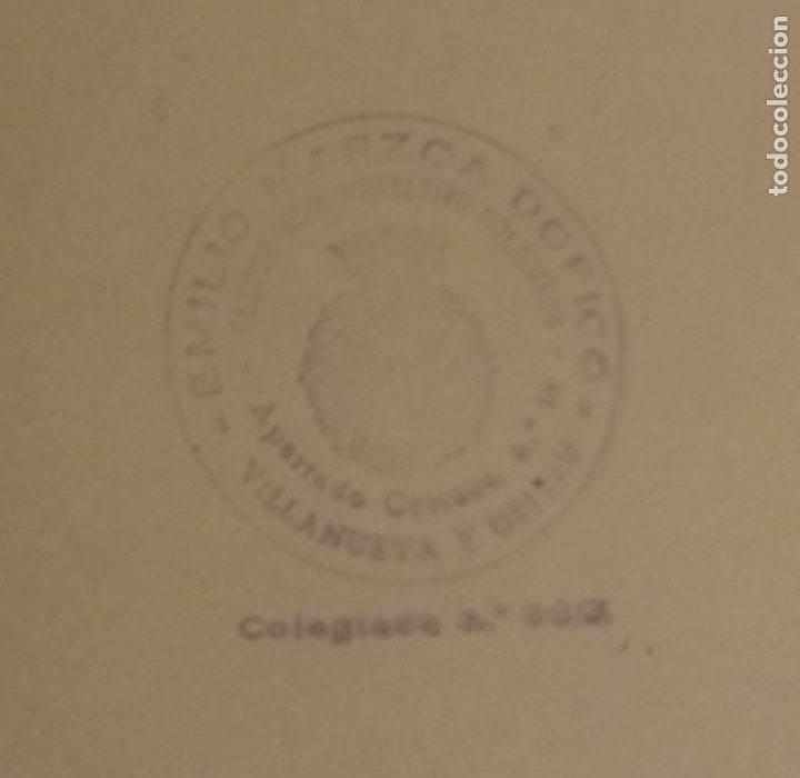 Antigüedades: ANTIGUO TAMPÓN CON CAJA METÁLICA PLATEADA - EMILIO MARZOA DOPICO - GESTOR VILLANUEVA Y GELTRÚ - Foto 8 - 218180383