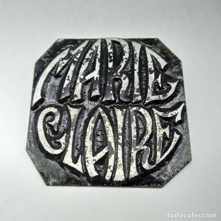 Antigüedades: sello, cuño, cliché o troquel de imprenta de MARIE CLAIRE años 80 - 90, ¡artículo único! - Foto 2 - 218237867