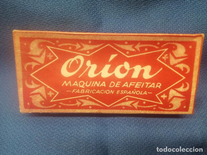 Antigüedades: CAJA CON MAQUINA DE AFEITAR ORION SIN ABRIR Y PRECINTO ORIGINAL * PIEZA UNICA * BARBERO. - Foto 3 - 218290910