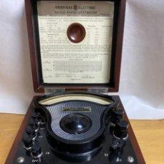 Antigüedades: VOLTIMETRO GENERAL ELECTRIC 1916. Lote 218320608
