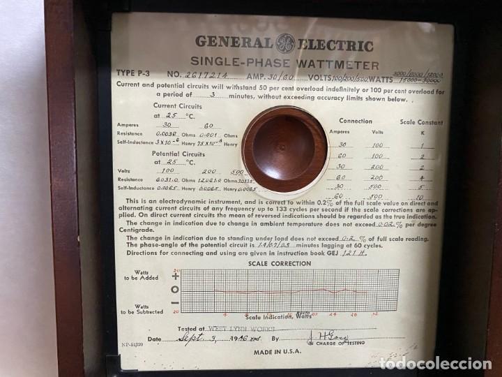 Antigüedades: Voltimetro General Electric 1916 - Foto 3 - 218320608