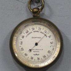 Antigüedades: BAROMETRO DE BOLSILLO. SHORT&MASON. LONDON. Lote 218323390