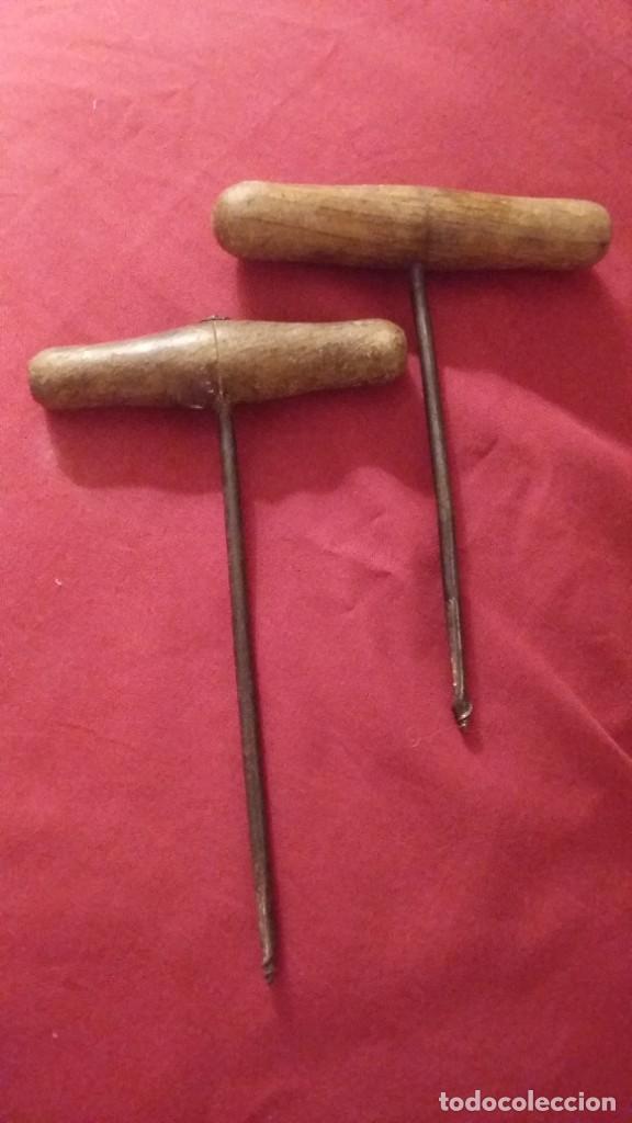 DOS ANTIGUAS BARRENAS DE CARPINTERO (Antigüedades - Técnicas - Herramientas Profesionales - Carpintería )