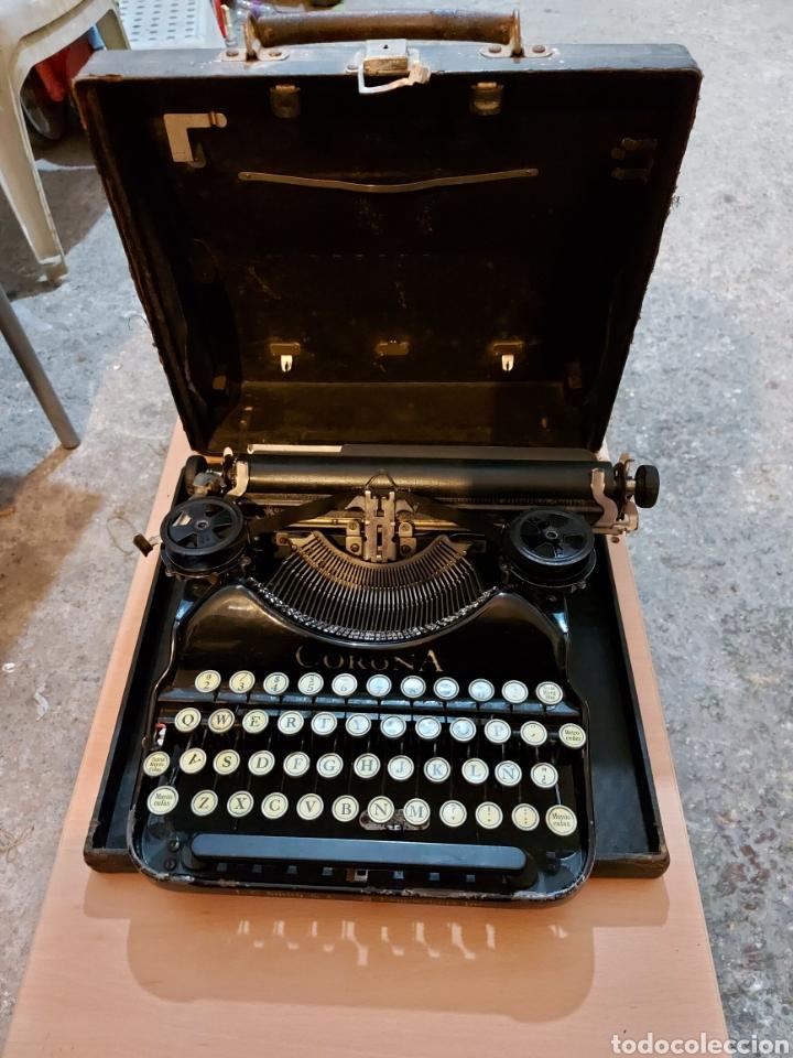 MAQUINA DE ESCRIBIR CORONA (Antigüedades - Técnicas - Máquinas de Escribir Antiguas - Otras)