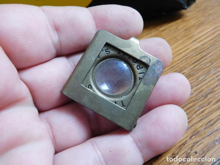 Antigüedades: Lupa antigua cuenta hilos publicidad tintas tipolit S.A, - Foto 2 - 218401106