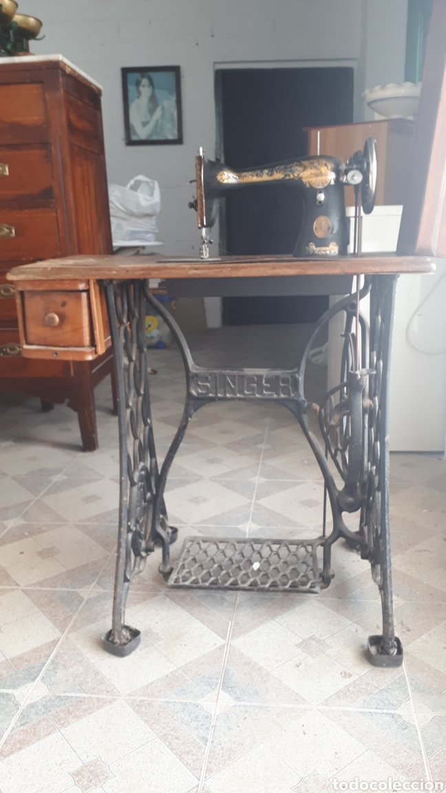 Antigüedades: MAQUINA DE COSER SINGER ORIGINAL - Foto 2 - 218404796