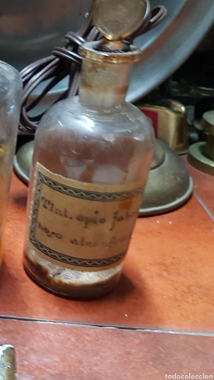 TARRO DE FARMACIA PARA OPIO ANTIGUO SIGLO XVIII- XIX APROX (Antigüedades - Técnicas - Herramientas Profesionales - Medicina)