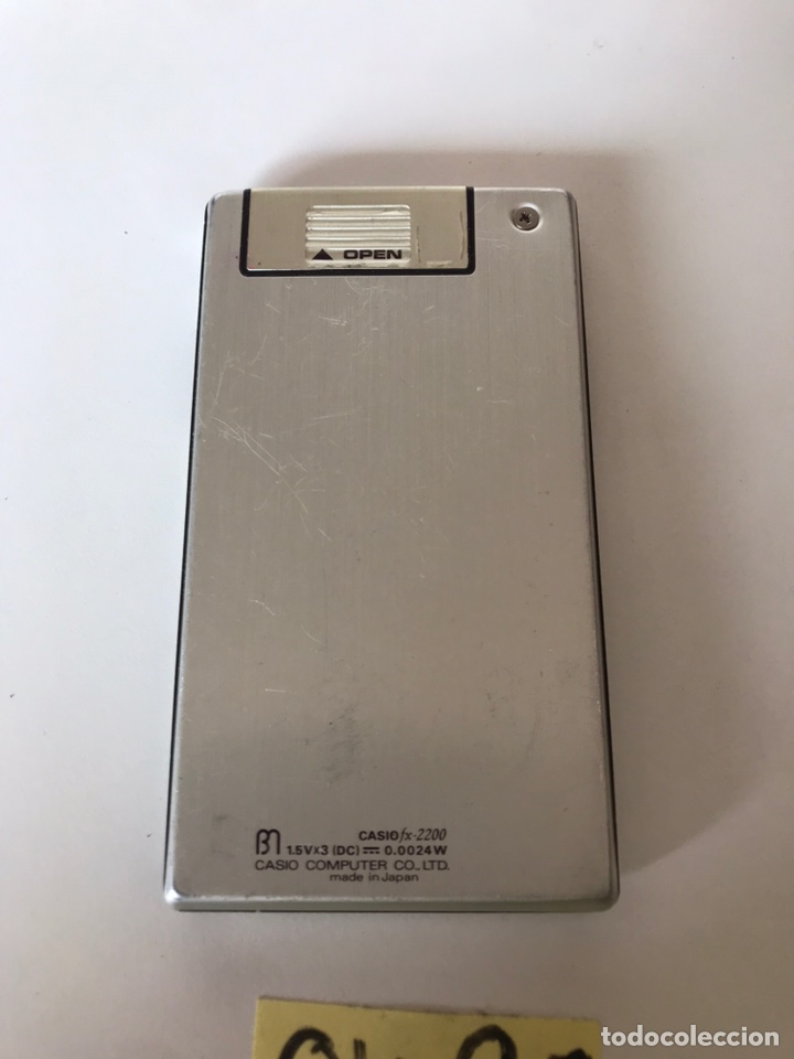 Antigüedades: Calculadora Científica Casio FX-2200 Vintage - Foto 2 - 218477058