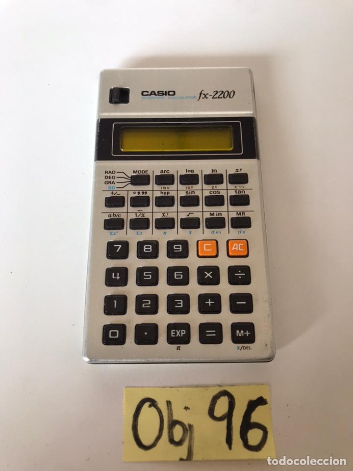 CALCULADORA CIENTÍFICA CASIO FX-2200 VINTAGE (Antigüedades - Técnicas - Aparatos de Cálculo - Calculadoras Antiguas)