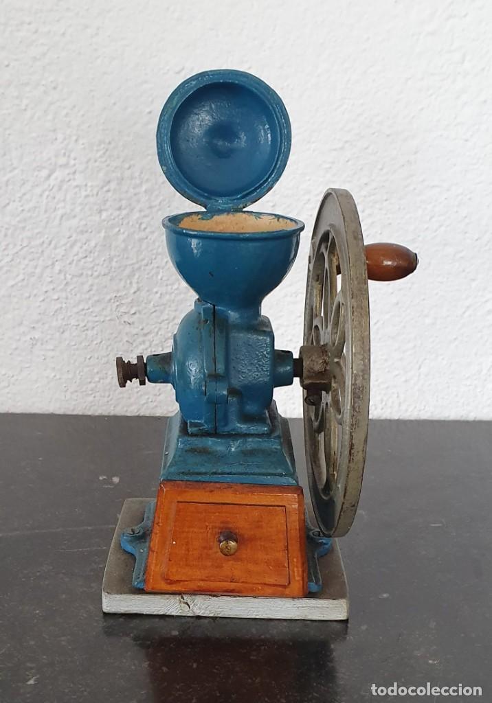Antigüedades: MOLINILLO DE CAFE, RUEDA LATERAL, AÑOS 30. - Foto 5 - 218482738