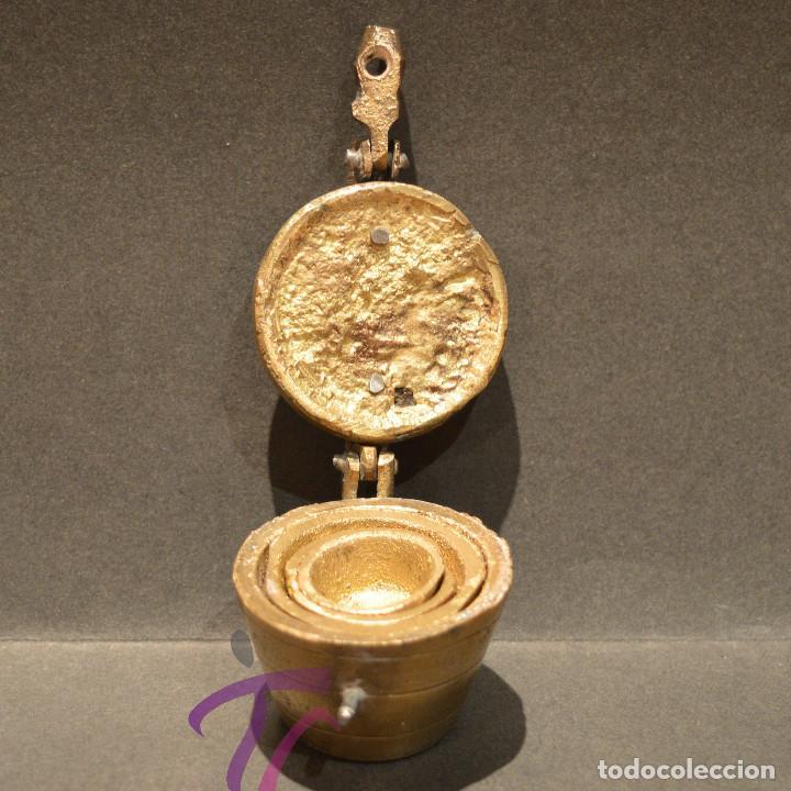 Antigüedades: PEQUEO PONDERAL DE VASOS ANIDADOS - Foto 6 - 218511922