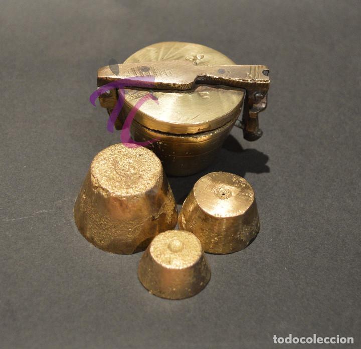 Antigüedades: PEQUEO PONDERAL DE VASOS ANIDADOS - Foto 9 - 218511922