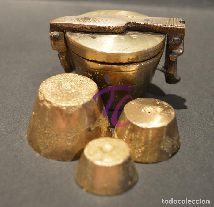 Antigüedades: PEQUEO PONDERAL DE VASOS ANIDADOS - Foto 10 - 218511922