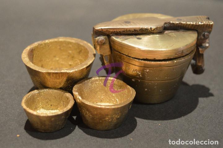 Antigüedades: PEQUEO PONDERAL DE VASOS ANIDADOS - Foto 11 - 218511922