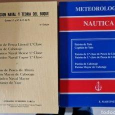 Antigüedades: LOTE DOS LIBROS. CONSTRUCCIÓN NAVAL Y TEORIA DEL BUQUE. METEOROLOGÍA NAUTICA. Lote 218545043