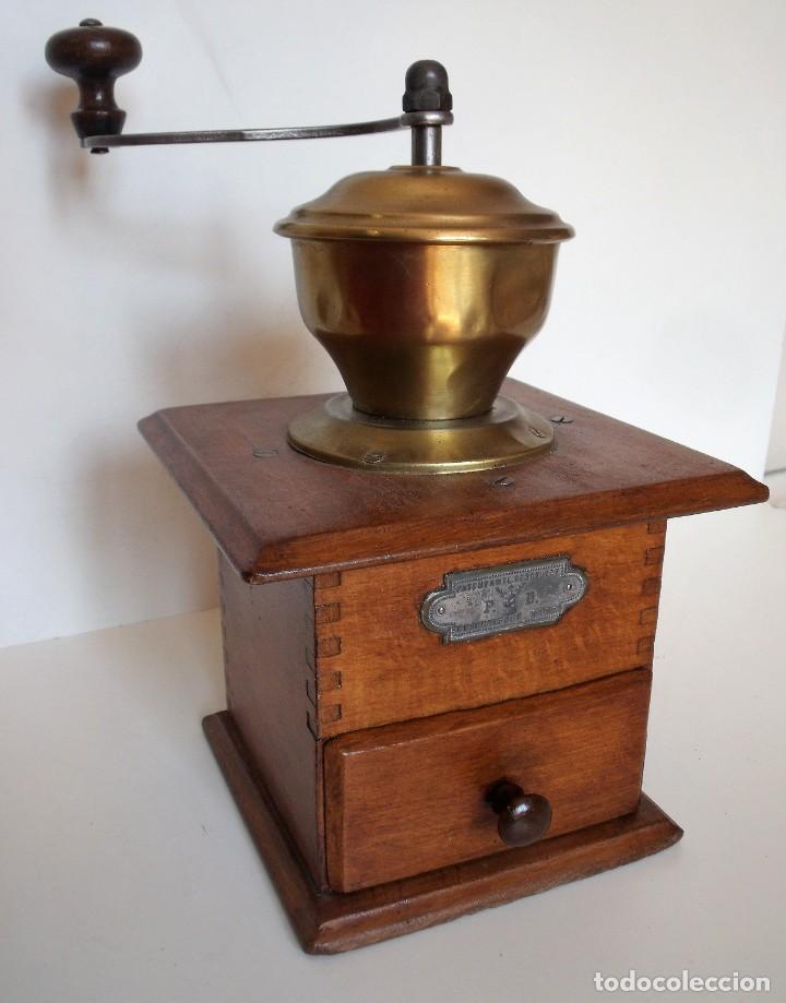 MOLINILLO DE CAFÉ MARCA P.D. ALEMANIA. CA 1880/1900 (Antigüedades - Técnicas - Molinillos de Café Antiguos)