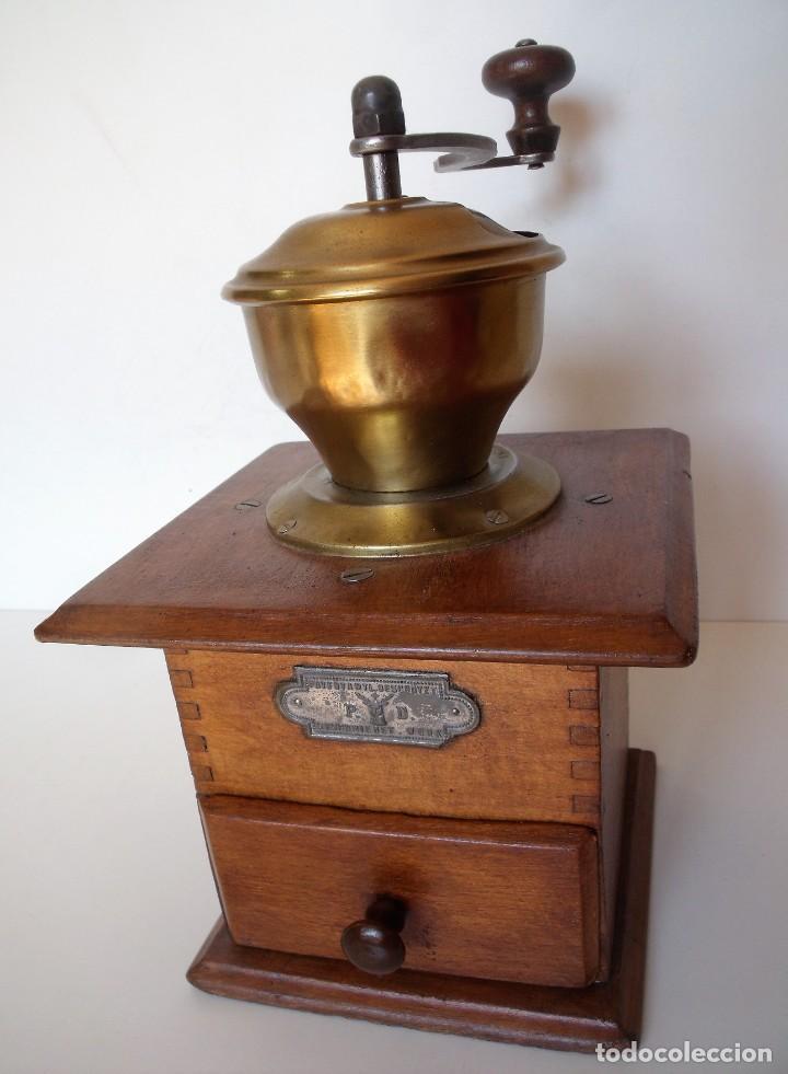 Antigüedades: MOLINILLO DE CAFÉ MARCA P.D. ALEMANIA. CA 1880/1900 - Foto 3 - 218550562