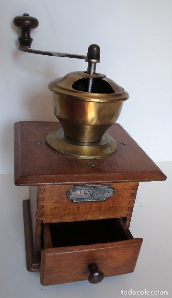 Antigüedades: MOLINILLO DE CAFÉ MARCA P.D. ALEMANIA. CA 1880/1900 - Foto 6 - 218550562