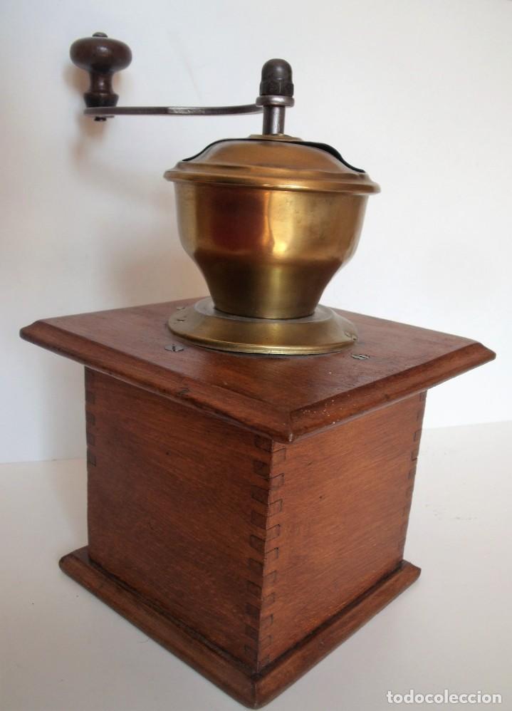 Antigüedades: MOLINILLO DE CAFÉ MARCA P.D. ALEMANIA. CA 1880/1900 - Foto 8 - 218550562
