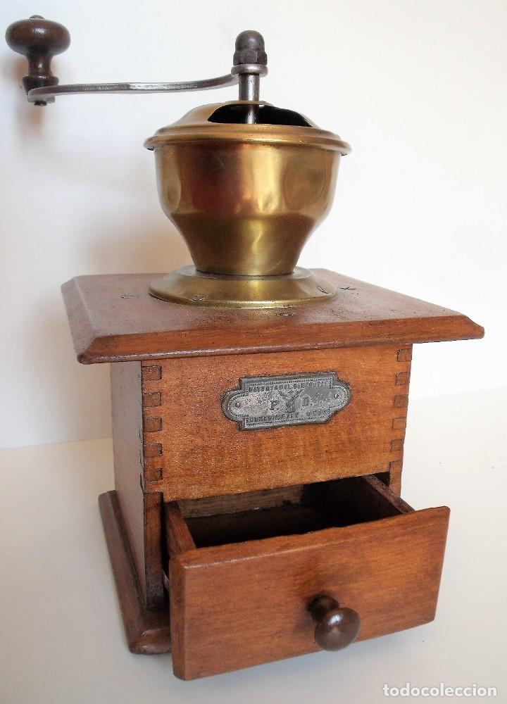 Antigüedades: MOLINILLO DE CAFÉ MARCA P.D. ALEMANIA. CA 1880/1900 - Foto 9 - 218550562