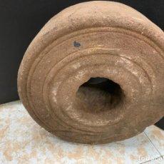 Antigüedades: ENORME PIEDRA ESMERIL PARA AFILAR, MUELA, AMOLADORA...MIDE APROX 23CMS DIAMETRO Y 9CM GROSOR. 8,2KG. Lote 218570003