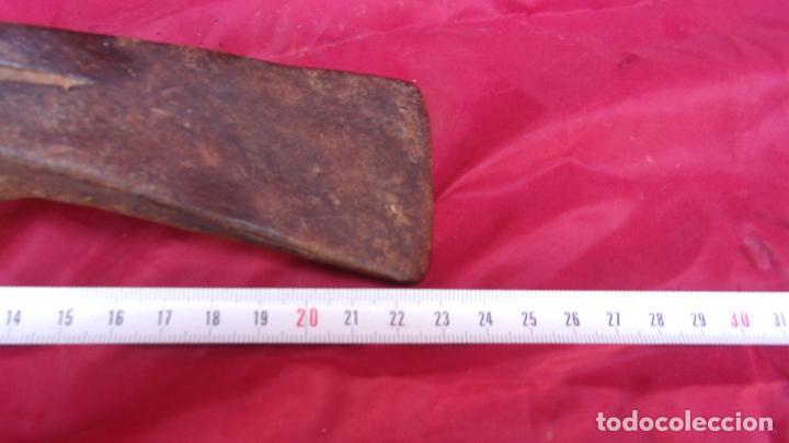 Antigüedades: antigua hachuela,herramienta campo,hierro,forja - Foto 3 - 218636193