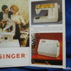 Antigüedades: CATÁLOGO SINGER DESPLEGABLE DE 1975. Lote 218638912